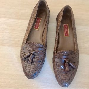Cole Haan | Brown leather loafers with tassel